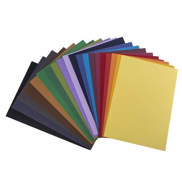 Brustro Artist's Pastel Papers 160 GSM A4 2 Packets of Assorted Bright Shades (Each Packet Contains 20 sheets)