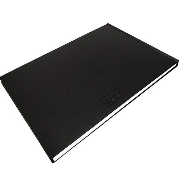 Brustro Artists' Sketch Book Stitched Bound A4 Landscape (110 GSM, 156 Pages Acid Free)