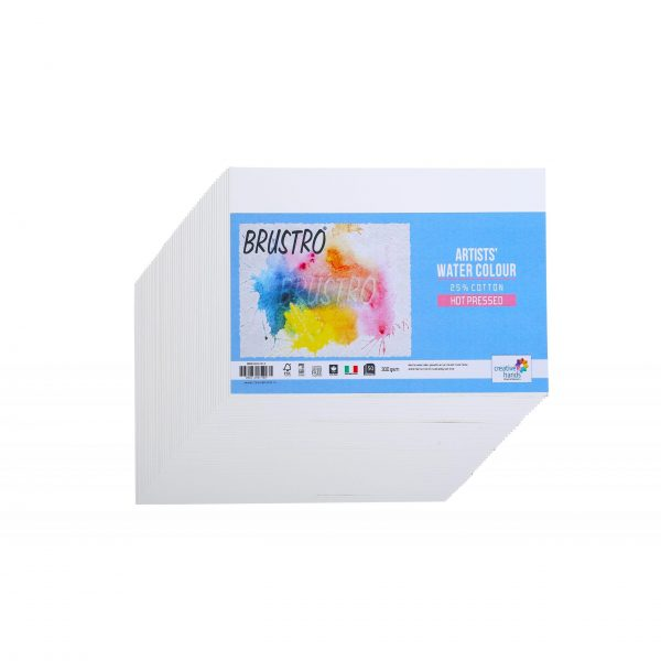 Brustro Watercolour Papers 25% Cotton 300 GSM (Hot Pressed) (OPEN STOCK)