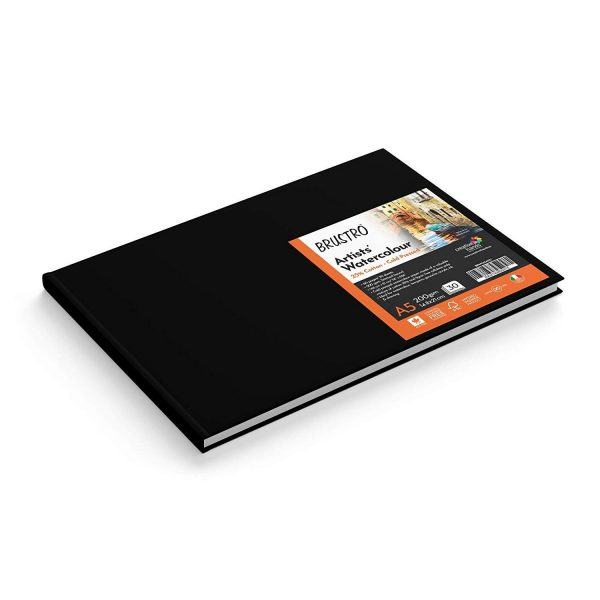 BRUSTRO Artist 25% Cotton Watercolour Stitched Bound Journal Cold Pressed, 200 GSM A5-30 Sheets