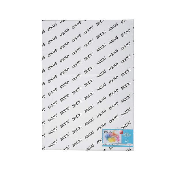 Brustro Artists' Watercolour Paper 300 GSM 25% Cotton-COLD PRESSED (OPEN STOCK)