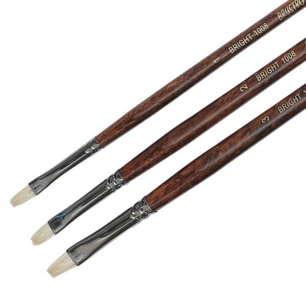 Brustro Artists Bristlewhite Bright Brush Series 1008 (Open Stock)