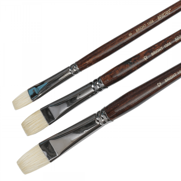Brustro Artists Bristle White Bright Brush Series 1008 (Open Stock)