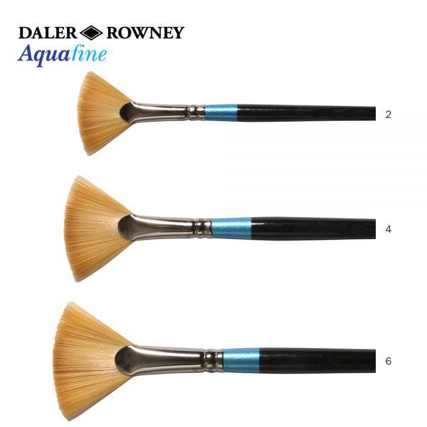 Daler-Rowney Aquafine Fan Blender Watercolor Brushes (OPEN STOCK)