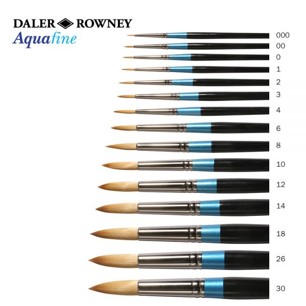 Daler-Rowney Aquafine Round Watercolor Brushes (OPEN STOCK)