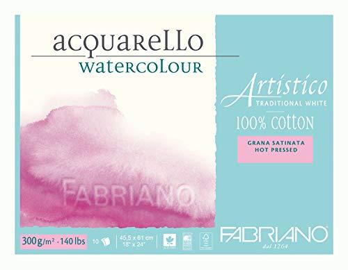 Fabriano Artistico Traditional White Watercolour Blocks HP 300 GSM 45.5 X 61 CM
