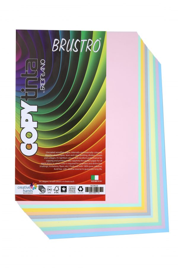Fabriano Copy Tinta A4 Assorted Soft (Pack of 2)