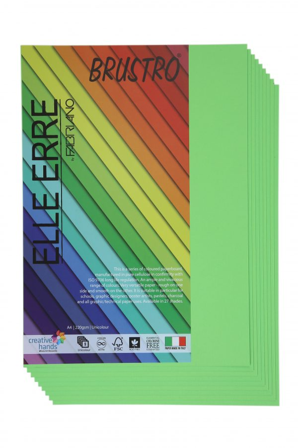 Fabriano Elle Erre A4 Verde Pisello (Pack of 2)