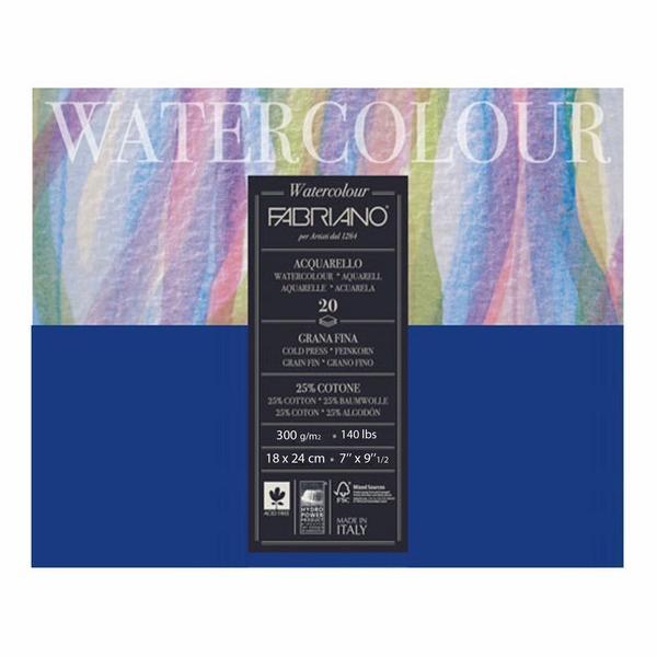 Fabriano Studio Watercolor Blocks CP 300 GSM 20 Sheets (OPEN STOCK)