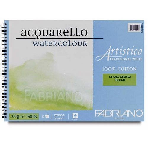 Fabriano Artistico Traditional White Watercolour Spiral Pad (OPEN STOCK)