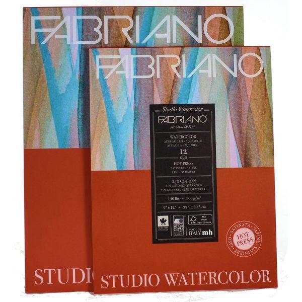 Fabriano Studio Watercolour Blocks Hot Pressed 300 GSM  (OPEN STOCK)