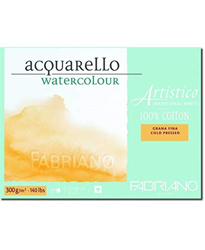 Fabriano Artistico Traditional White Watercolour Blocks CP 300 GSM 23 X 30.5 CM