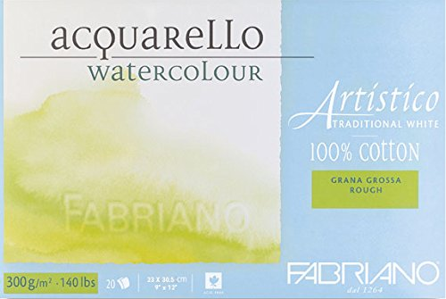 Fabriano Artistico Traditional White Watercolour Blocks Rough 300 GSM 23 X 30.5 CM