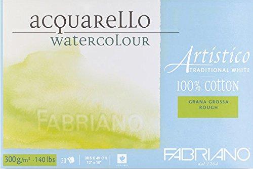 Fabriano Artistico Traditional White Watercolour Blocks Rough 300 GSM 30.5 X 45 CM