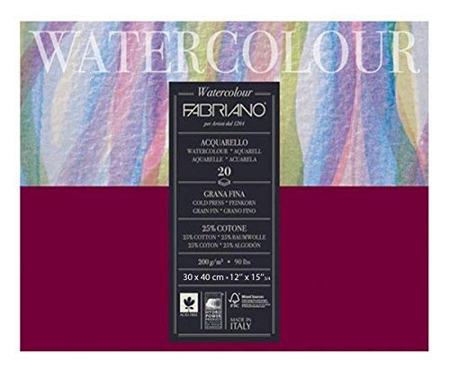 Fabriano Studio Watercolor Blocks CP 200 GSM 30 X 40 CM