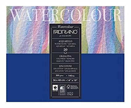 Fabriano Studio Watercolor Blocks CP 300 GSM 36 X 48 CM