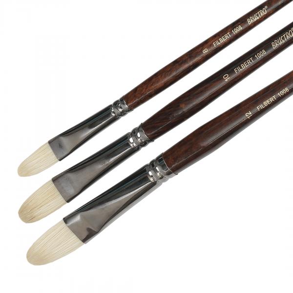 Brustro Artists Bristlewhite Filbert Brush Series 1008 (Open Stock)