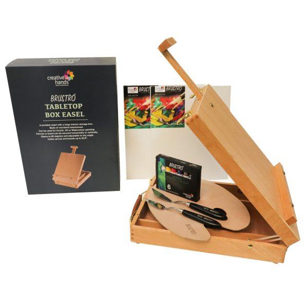 Brustro Creative Acrylic Box Easel Set