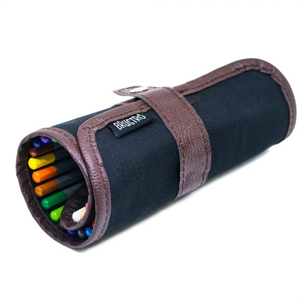 Brustro Pencil wrap (24 Slots) Canvas Roll Up Carry Case for School, Office, Travel, Pencil Roll Organizer for Artists (Pencils not Included)