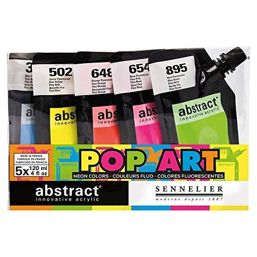 Sennelier Abstract Artist Acrylic 120 ml pouch (Fluorescent Assorted 5)