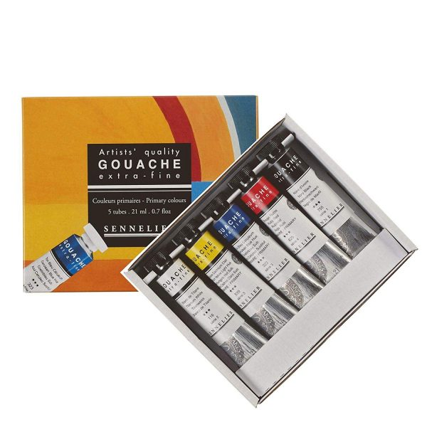 Sennelier Extra fine Artists Quality Gouache Paint Starter Set 5 X 21 ml