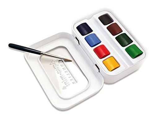 Sennelier l'Aquarelle French Artists' Watercolor Aqua-Mini Set - Metal Box of 8 Half Pans