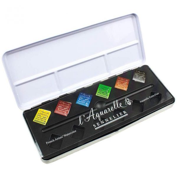 Sennelier Artist Watercolour Test Pack 6 Half Pans