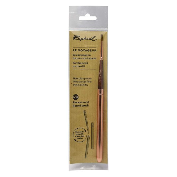 Raphael Precision Soft Synthetic Pocket Travel Brush with Reversible Handle Size - 0