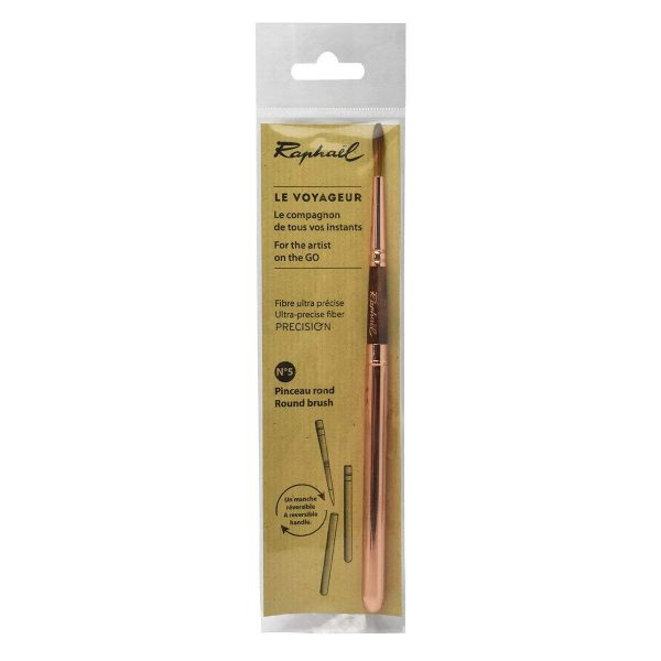 Raphael Precision Soft Synthetic Pocket Travel Brush with Reversible Handle Size - 5