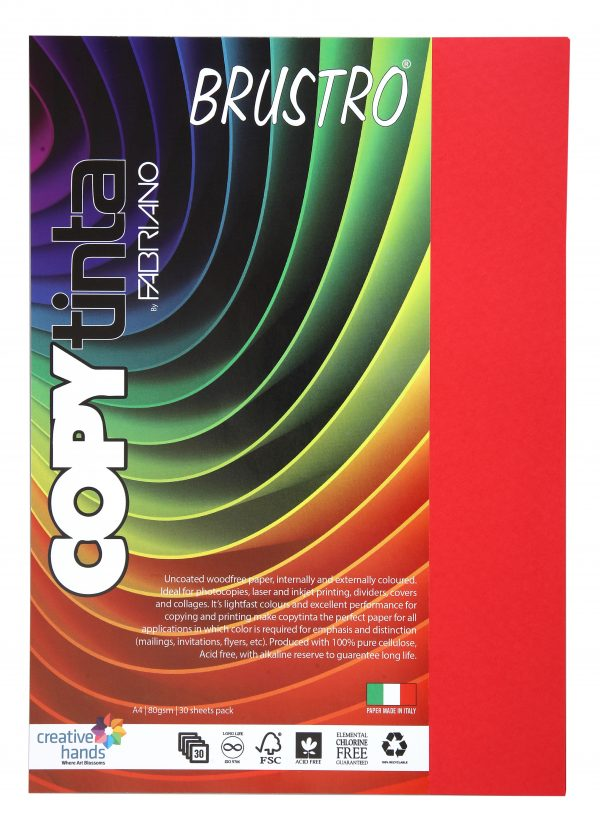 Fabriano Copy Tinta A4 Rosso (Pack of 2)