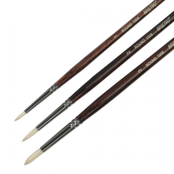Brustro Artists Bristlewhite Round Brush Series 1008 (Open Stock)