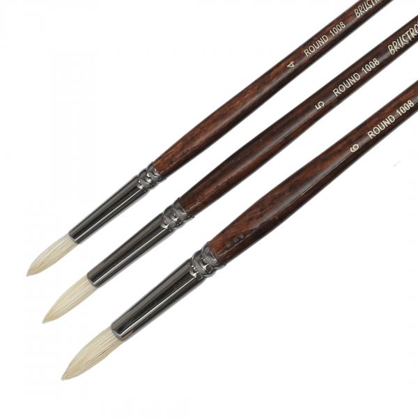 Brustro Artists Bristle White Round Brush Series 1008 (Open Stock)