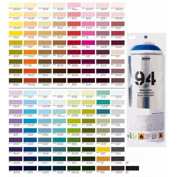 MTN 94 Spray Paints 400ML - Fluorescent Red