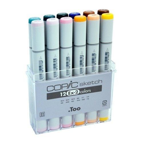 Copic Sketch Marker Set 12 Color Set Ex2