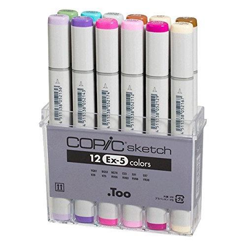 Copic Sketch Marker Set 12 Color Set Ex-5