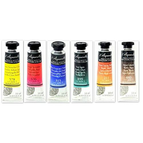 Sennelier l'Aquarelle French Artists' Watercolor - Set B 6 X 10ML