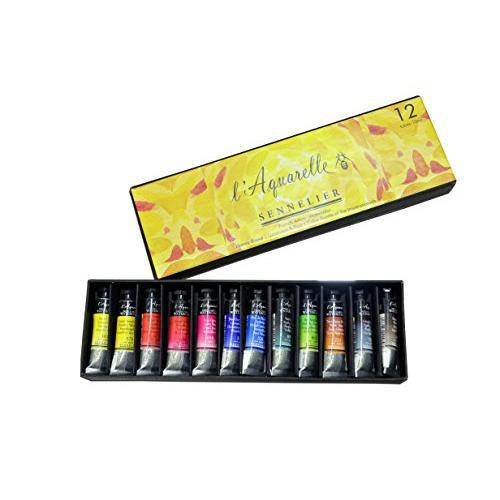 Sennelier l'Aquarelle French Artists' Watercolor - Set 12 X 10ML