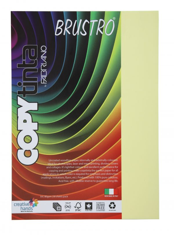 Fabriano Copy Tinta A4 Verde Chiaro (Pack of 2)