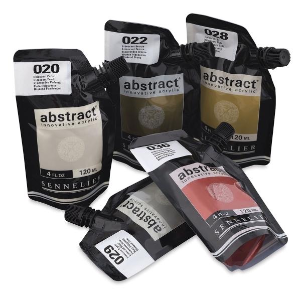 Sennelier Abstract Artist Acrylic pouch 120ML (Iridescent, Fluorescent & High Gloss) (Open Stock)