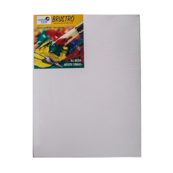 """Try It ! Brustro Stretched Canvas Mixed Linen (12""""x16"""")"""