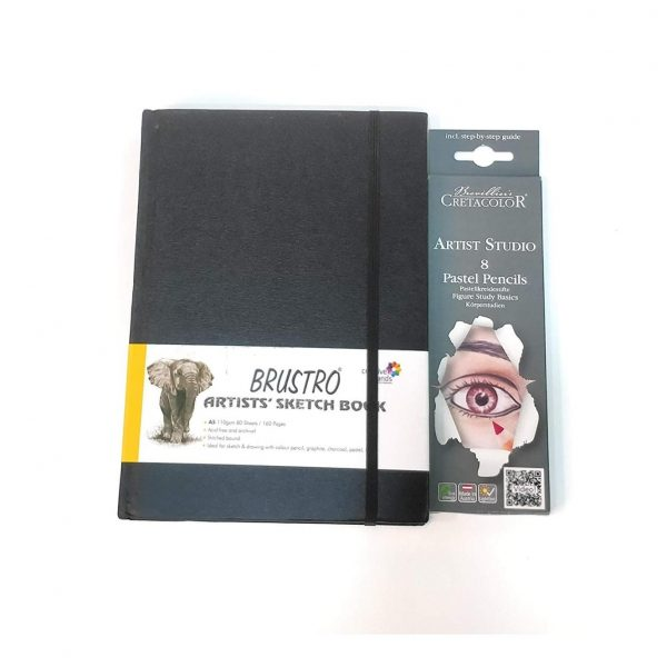 Brustro Artists' Sketch Book Stitched Bound A5 110 GSM