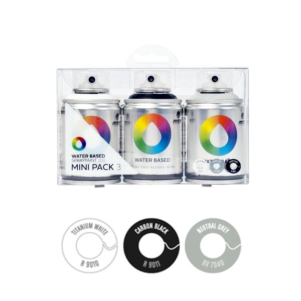 MTN Spain Water Based Spray Paints 100ML - Mini pack of 3