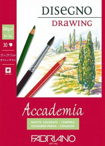 Fabriano Accademia Drawing Pad 200 GSM A4