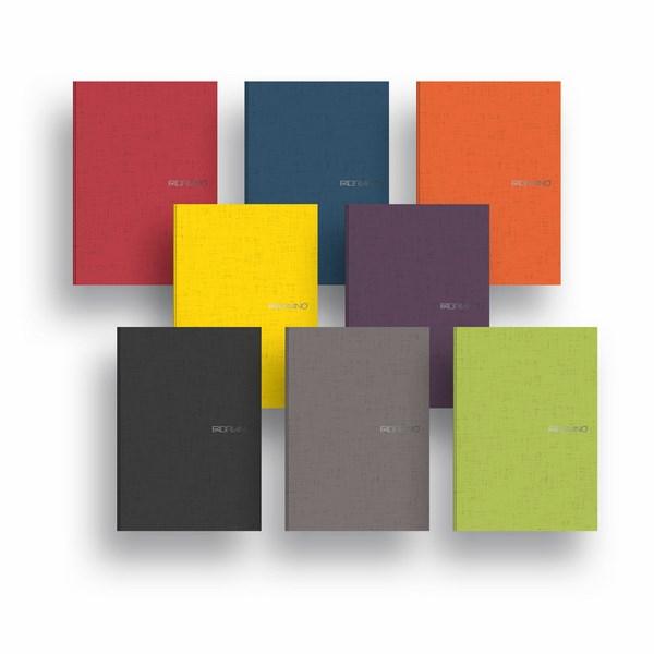Fabriano Ecoqua A4 Staple Bound Blank Notebook (Set of 8 Assorted Colours)