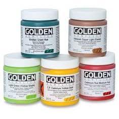 Golden Heavy Body Acrylic Paints 236ML (Open Stock)