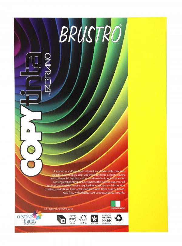 Fabriano Copy Tinta A4 Giallo (Pack of 2)