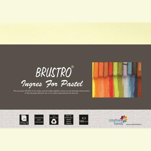 Brustro Artist's Pastel Papers 160 GSM A3 (Pack of 20 Sheets)