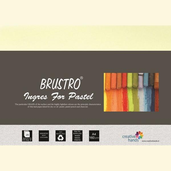 Brustro Artist's Pastel Papers 160 GSM A4 (Pack of 20 Sheets)
