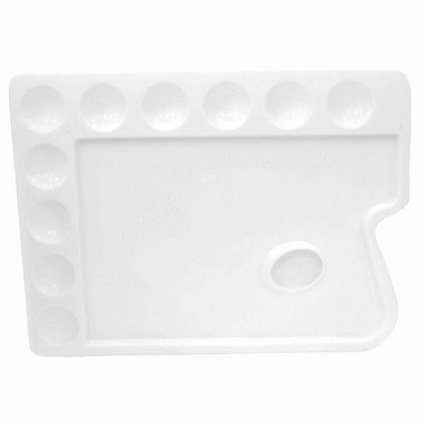 Brustro Rectangle 10 Well Plastic Palette 30X22CM