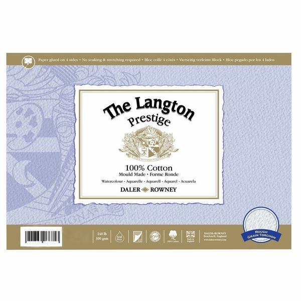 """Daler-Rowney Langton Prestige Block 10""""X14"""" Rough"""
